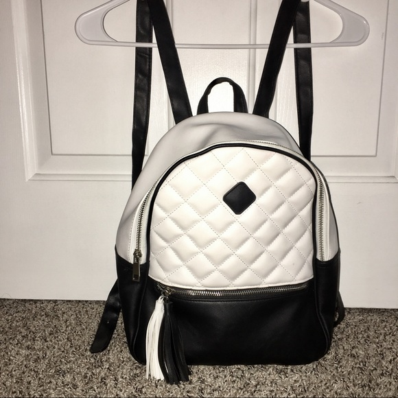 ee546030f Bags | Monochrome Quilted Backpack | Poshmark